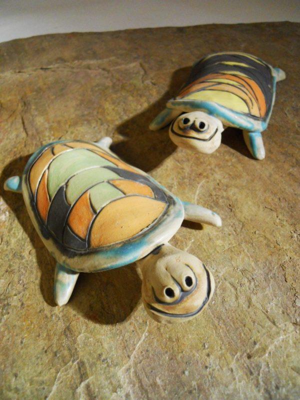 apró színes teknős