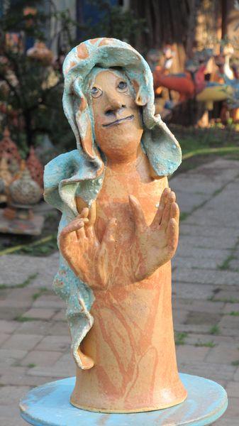 női portré 2 17×40 28000 - Egyedi kerámia