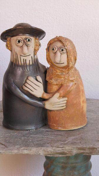 zsidó pár 15×18 6500 - Egyedi kerámia