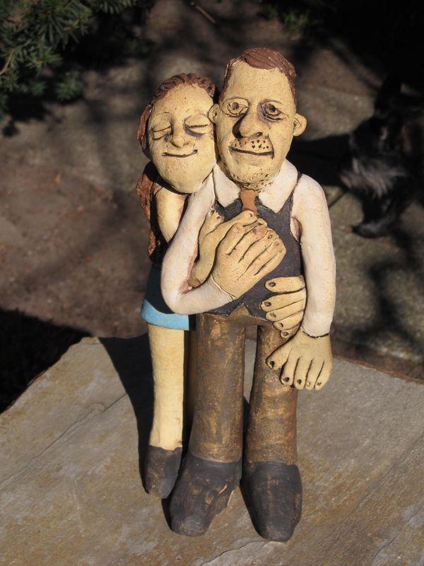 Kerámia emberfigurák - családi portré