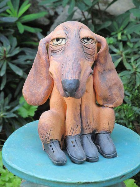 Kerámia kutya szobor
