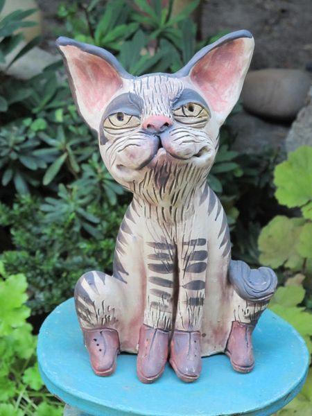 Kerámia macska szobor
