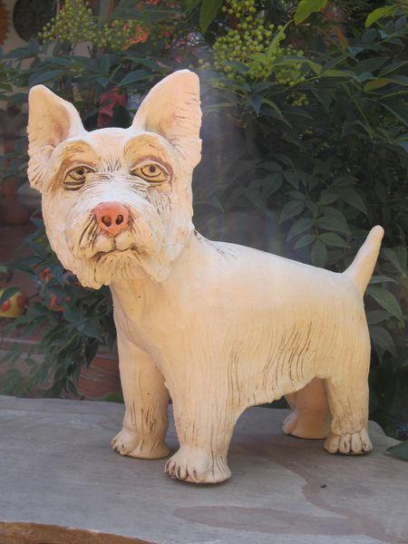 Kerámia kutya szobor - westie